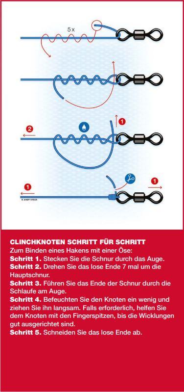 Der Clinch-Knoten zum Anbinden an eine Öse